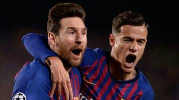 barcelona 3-0 manchester united: lionel messi stars as united knocked out of champions league
