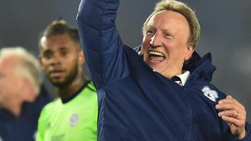 brighton 0-2 cardiff city: neil warnock's side just two points from position of safety