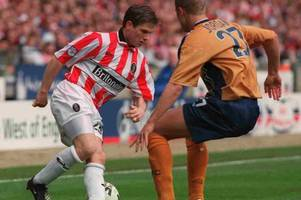 fans, champagne and black eyes! 88 pictures as stoke city beat bristol city at wembley to lift auto windscreens shield