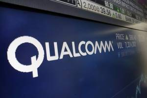 qualcomm shares soar on news of settlement with apple