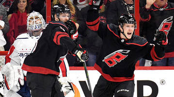 playoff roundup: hurricanes dominate capitals, maple leafs take series lead
