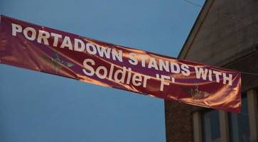 portadown banner supporting soldier accused of murders on bloody sunday should be removed - sinn fein