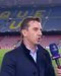 gary neville reveals the way liverpool could beat barcelona in brutal man utd comparison