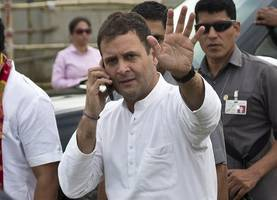 rahul performs rituals for late family members, pulwama attack victims