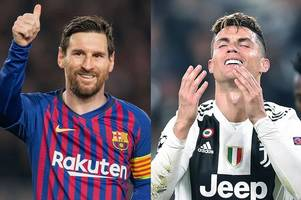 Lionel Messi reacts to Cristiano Ronaldo's Champions League exit with Juventus