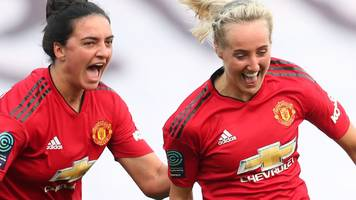 man utd women beat villa to clinch promotion