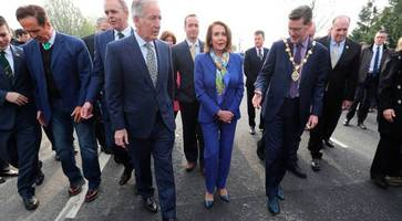 nancy pelosi says us has 'vested interest' in northern ireland peace process during visit to border
