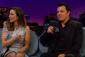 linda cardellini, while sitting next to seth macfarlane, says she was fired from 'family guy' (video)
