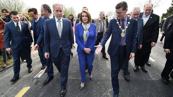 brexit: nancy pelosi steps up pressure on uk over irish border