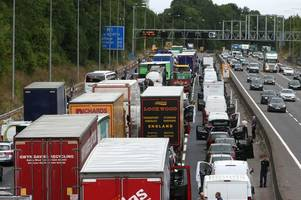 Live: M1 delays as three lanes are closed after collision