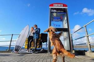 Vodafone installs 4G technology inside phone boxes at Cornwall beaches