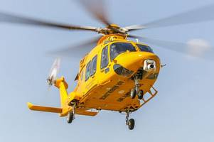 air ambulance, paramedics, firefighters and police descend after report of a 'man on fire' near lincoln