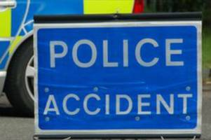 road closed as police rush to three vehicle crash on main road