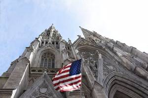 man with gas cans in st. patrick's cathedral purchased one-way italy ticket