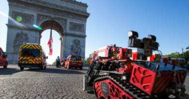 """see the """"colossus"""" firefighting robot that helped save notre dame"""