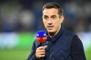 gary neville makes hilarious request to spurs that liverpool fans will hate after man city win