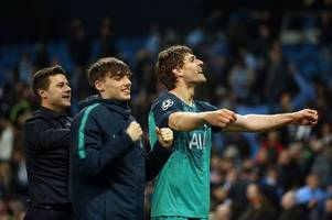 who is jamie bowden? the spurs youngster fans saw celebrating with fernando llorente at man city