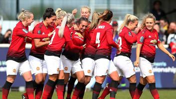 manchester united women clinch promotion to wsl after aston villa drubbing