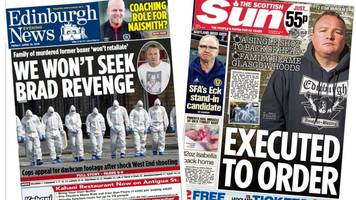 the papers: 't2 star's execution ordered by glasgow hoods'