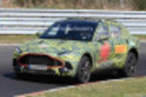 2020 Aston Martin DBX spy shots and video