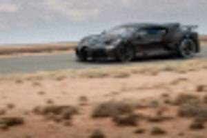 bugatti divo busy with hot-weather testing