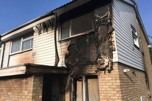 'unattended candle' destroys part of evington home