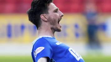 st johnstone 2-0 dundee: eighth defeat in row for dark blues
