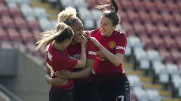 man utd women 7-0 crystal palace ladies: women's championship title sealed by win