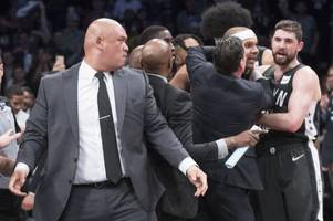 Bad blood between Sixers and Nets boils over into courtside scrum
