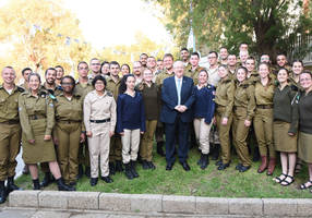 Rivlin, IDF head Kochavi celebrate Passover with 400 lone soldiers
