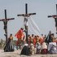 Devotees nailed to crosses on Good Friday in Philippines