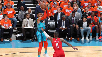 Russell Westbrook, Damian Lillard Putting on the First Round's Best Show