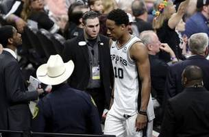 spurs' derozan fined $25k for throwing ball toward ref