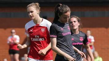arsenal one win from wsl title after beating everton