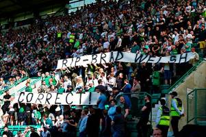 trainspotting 2 star bradley welsh tribute as hibs and celtic fans hold minute's applause at easter road