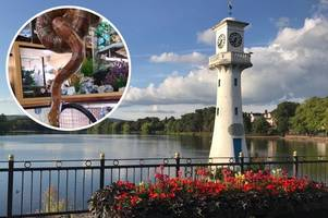 this huge snake was found in roath park in cardiff