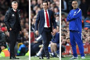 where arsenal can win or lose the exciting top four battle against spurs, chelsea and man united