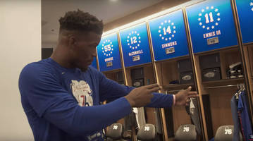 watch: jimmy butler's pregame routine involves cursing at sixers equipment manager