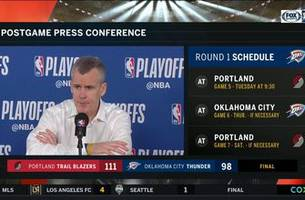 billy donovan on westbrook's shooting in game 4 loss to portland