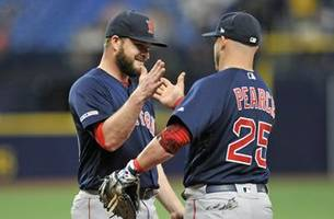 red sox complete sweep, close gap on al east-leading rays