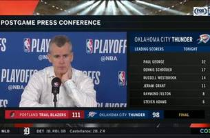 Billy Donovan talks Thunder Game 4 loss to Trail Blazers