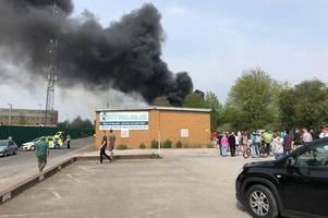 derby fire sparks 'explosions' as smoke sweeps city - fire service statement