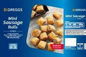greggs' sausage rolls recalled over fears they contain bits of plastic