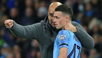 pep guardiola lauds 'special' phil foden after manchester city ace scores first premier league goal