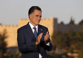 mitt romney - -netanyahu's friend, trump's foe -- in town for visit