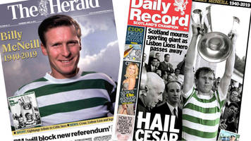 scotland's papers: tributes to 'lion king' billy mcneill