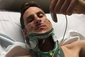 watch video of horrifying crash that left this erewash cyclist with broken ribs