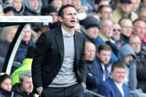 frank lampard calls for calm and focus ahead of derby county's big week