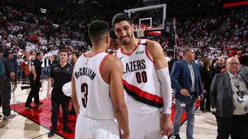 Watch: Enes Kanter Thanks Knicks For Waiving Him After Blazers Win over Thunder
