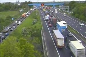updates: 'medical incident' on m48 and heavy traffic on m4 after crash near bristol